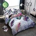Набор постельного белья HELENGILI с 3D принтом перьев  пододеяльник  набор с наволочкой  набор домашнего белья # YM-01