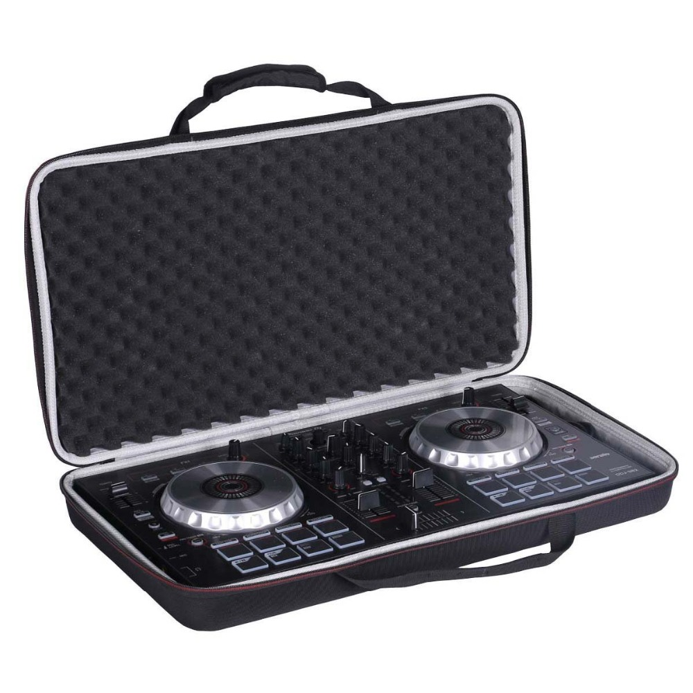 LTGEM Case voor Pioneer DJ DDJ-SB3/DDJ-SB2/DDJ-400 of Draagbare 2-kanaals Controller of DDJ-RB Prestaties DJ controller-Zwart
