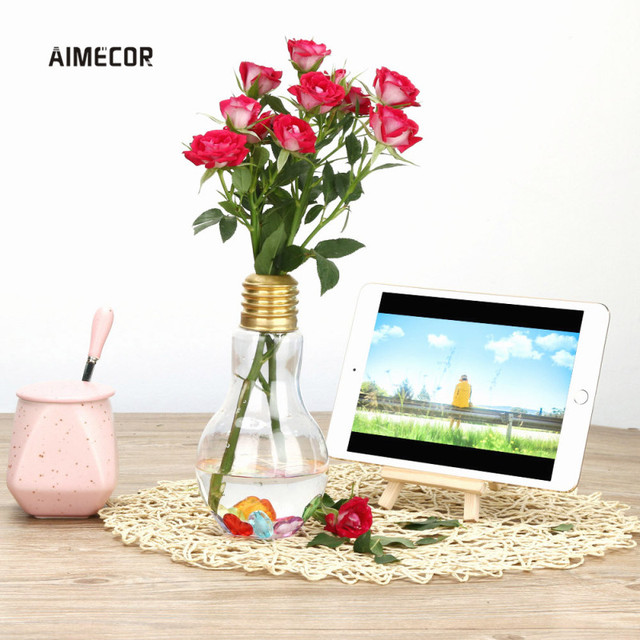 Aliexpress Buy Aimecor 500ml Clear Light Bulb Flower Vase
