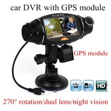 Discount! new arrival 2.7 inch R310 2.7 inch Dual 2 Lens Dash HD DVR Car Kit Camera Video Recorder camcorder night vision