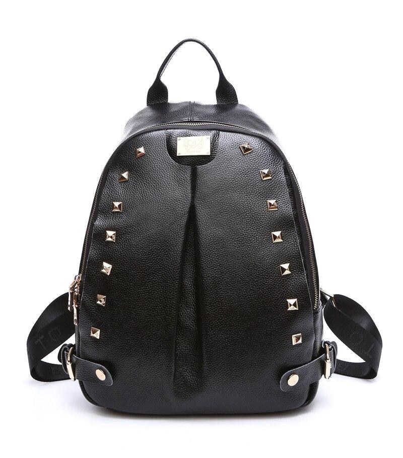 BRITTO Multi Function Genuine Leather Backpack Leisure Laptop School Bags Travel Shoulder Bag
