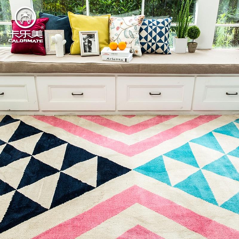 Macarons Pink Mix Blue Ground Mat For Living Roombig Size Foot Door Geometric Carpet 4060cm 1500200cm