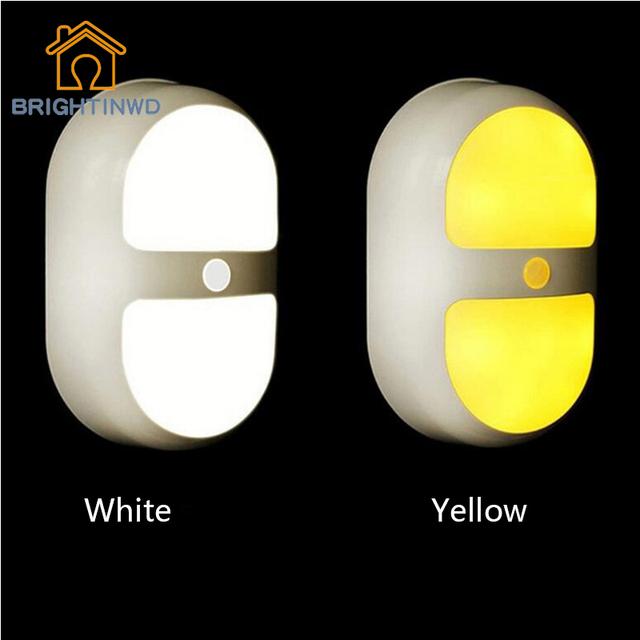 Light & Sensor de Corpo inteligente Luz Gabinete Lâmpada de Parede LEVOU Interior Alimentado Por Bateria Brilhante Crianças Bebê CONDUZIU a Lâmpada de Cabeceira Criativo Nightlight