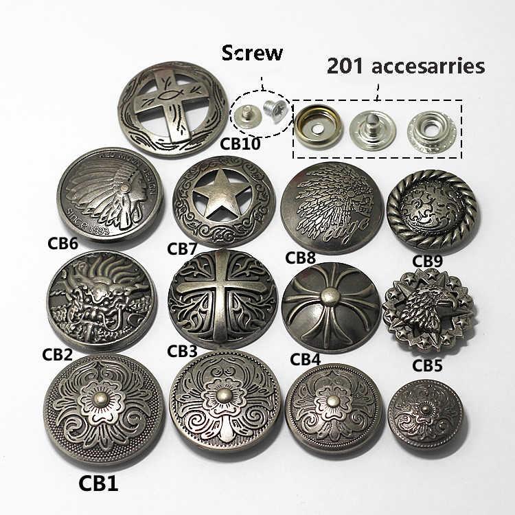 Przycisk zatrzaskowy srebrne guziki metalowe nit do paznokci z koralikami ozdoba do torby skórzanej zapięcie na zatrzask skórzane akcesoria do szycia
