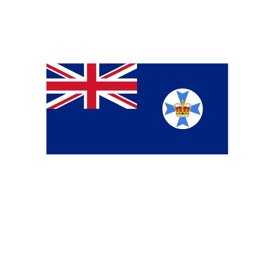 2019 Outdoor 120*180 cm 90*150 cm 60*90 cm 40*60 cm Neue AUS flagge, queensland State flag, Australien Flagge mit 2 ösen
