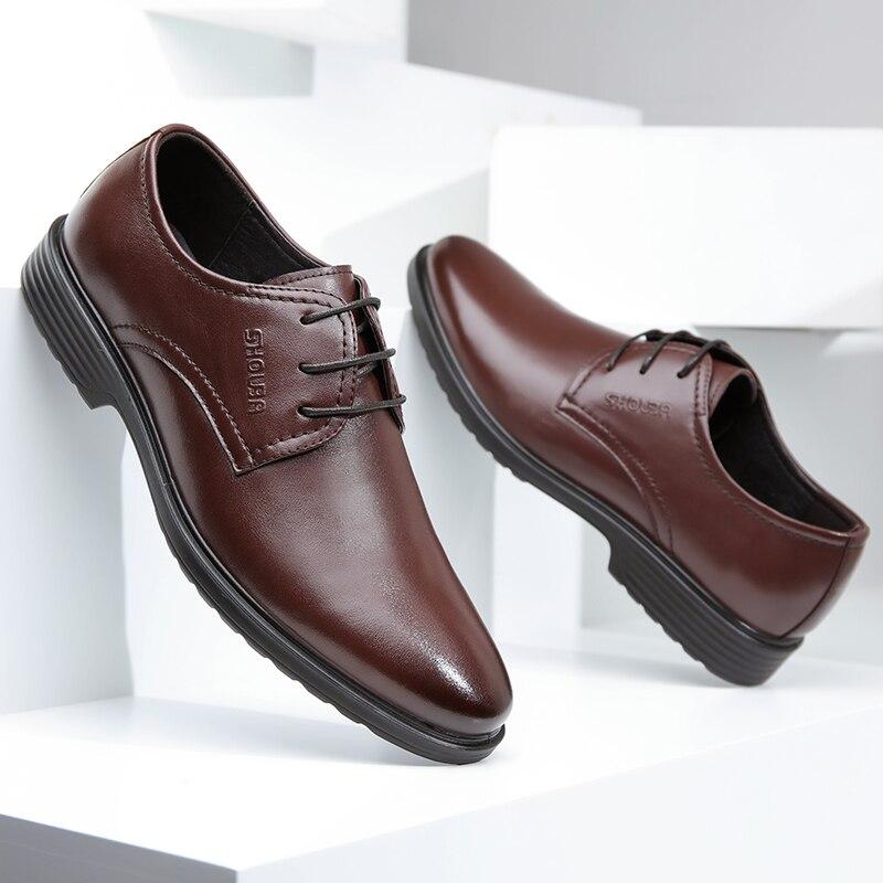 En D'affaires Pour Résistant De Printemps Mou Mocassins Fond Cuir L'usure glissement Non Chaussures D'âge Shouba Décontracté Hommes À Moyen wYEgUOqO