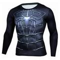 Настоящие Мужские Футболка Мода Сжатия Рубашка Супермен Капитан Америка 3D Футболка С Длинным Рукавом Фитнес Мужчины Crossfit Мадрид Clothing