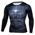 Real Mens T Shirt Fashion Compression Shirt Superman Captain America 3D Long Sleeve T Shirt Fitness Men Crossfit Madrid Clothing