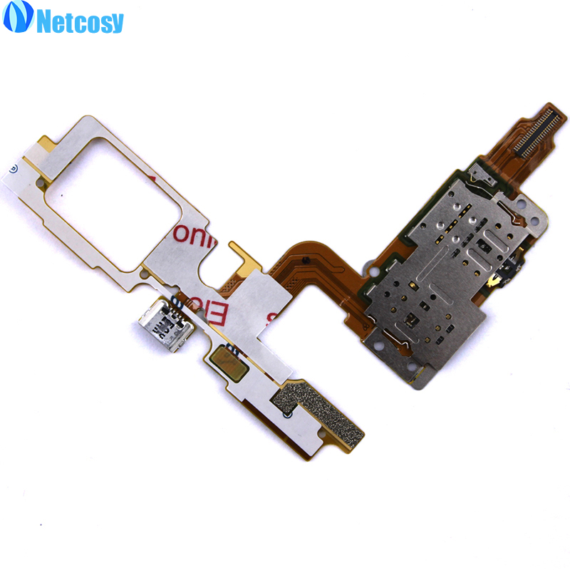 Netcosy USB Porto De Carregamento cabo flex + SIM Card Slot Titular  Substituição Para VIVO X5 Max Alta Qualidade Frete grátis c2b49eed90a50