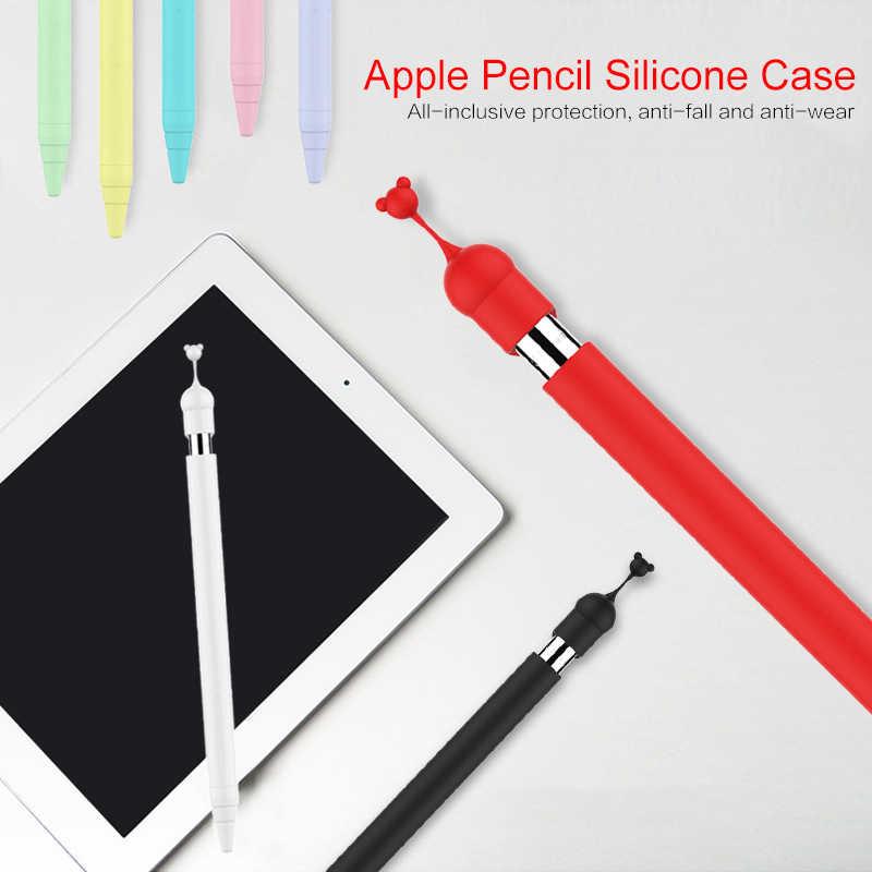 2019 Мягкий Силиконовый Футляр для карандашей Apple для IPad Насадка На глушитель держатель планшета ручка-стилус 360 полный защитный чехол Сумки