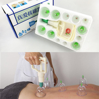 12Pcs Cupping Device Acupuncture Suction Cup Set Massage Cup Magnetic Therapy Vacuum Cups Body Massage C839