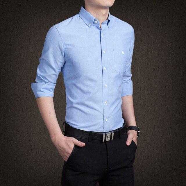 Осень/зима 2016 мужчины бизнес рубашка с длинным рукавом рубашки 5 xl размер 8 цвет хлопок мужчины контракт стиль рубашка