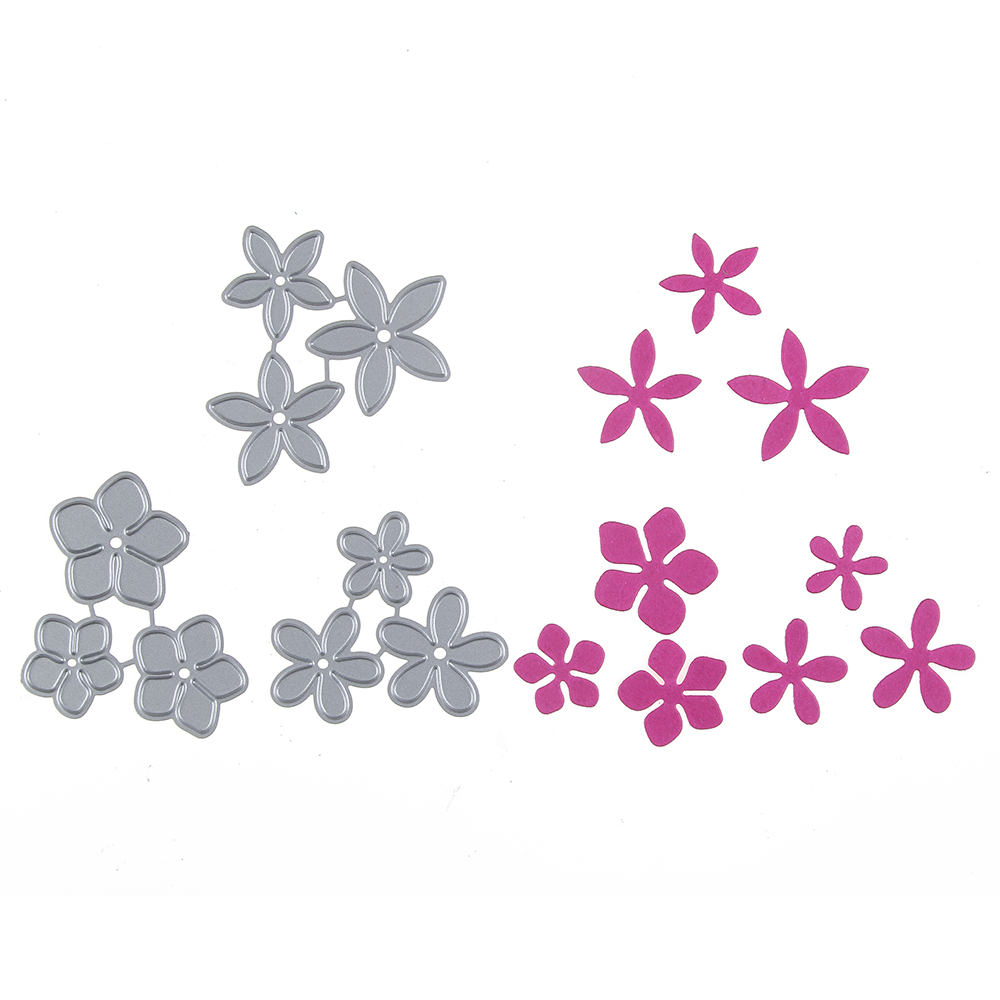flower template 5 petals - new 3 styles of flower 5 petals template metal cutting die