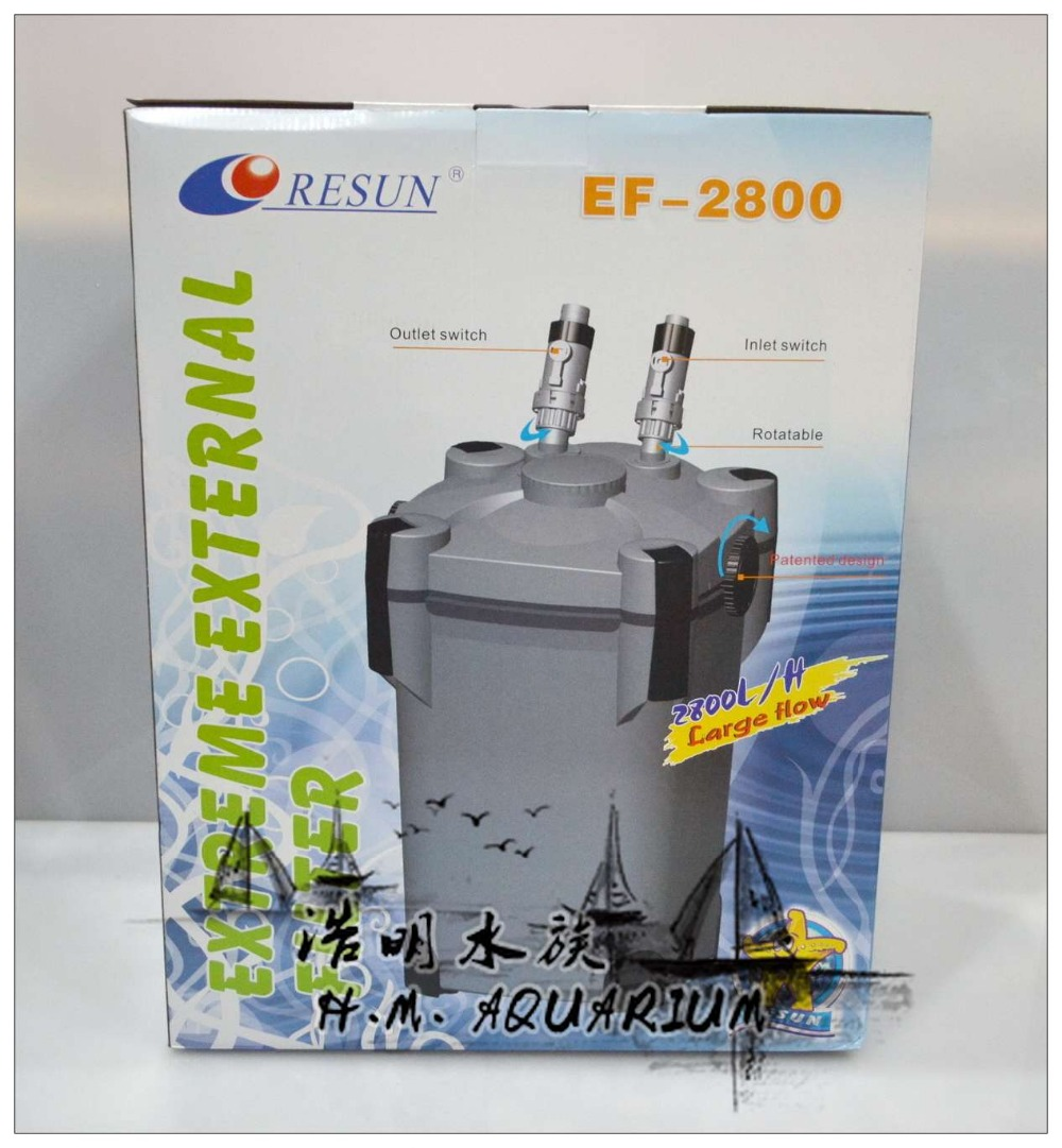 Aquarium fish tank external filter ef 1 1000l h - Px Resun 4 Stage 4 Layer Aquarium External Canister Filter With Filter Media Uv Sterilizer Ef 2800 Ef 2800u