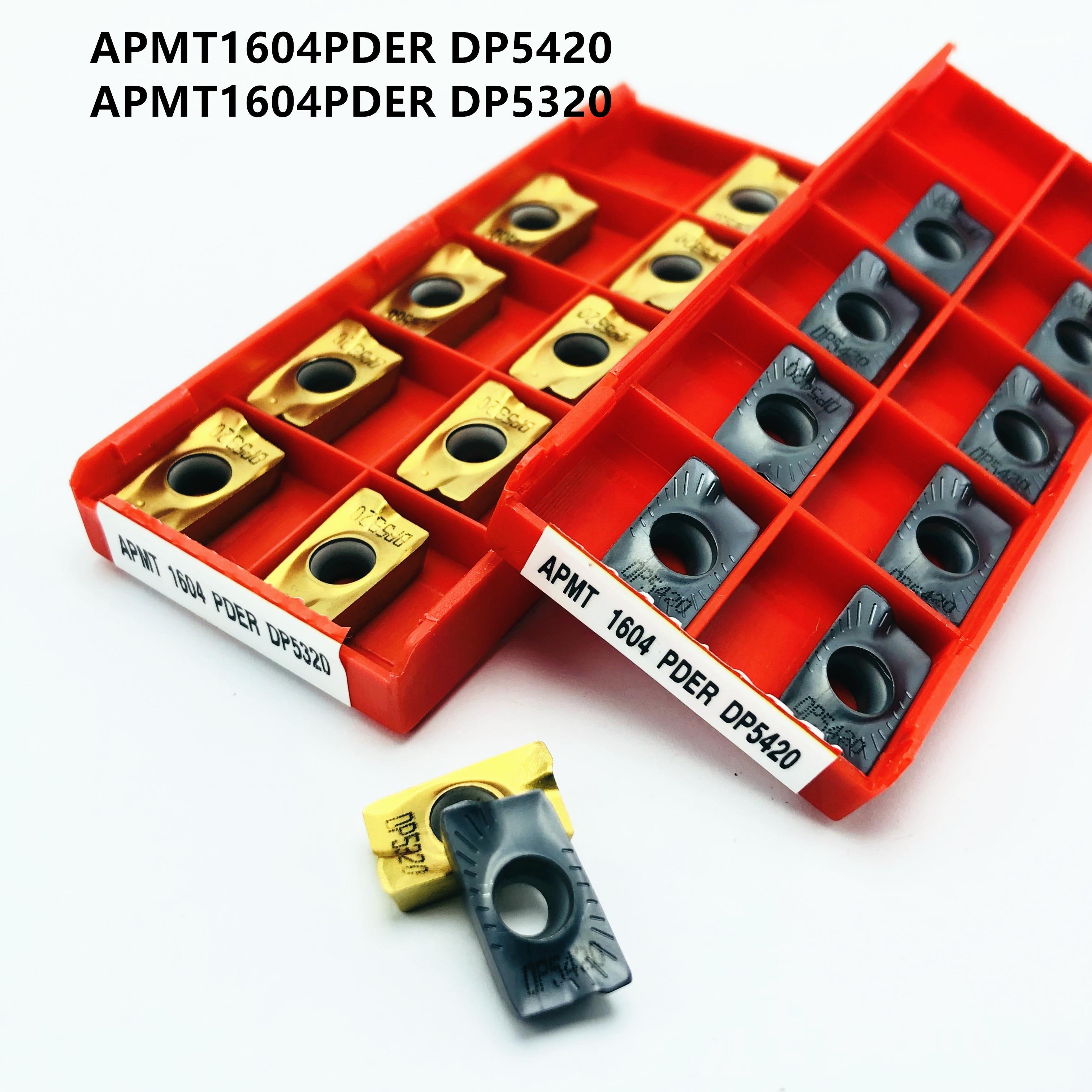 APMT1604 APMT1135 PDER DP5420 DP5320 Carbide Insert CNC Lathe Tool APMT1604 APMT1135 Machine Tool Accessories Milling Blade