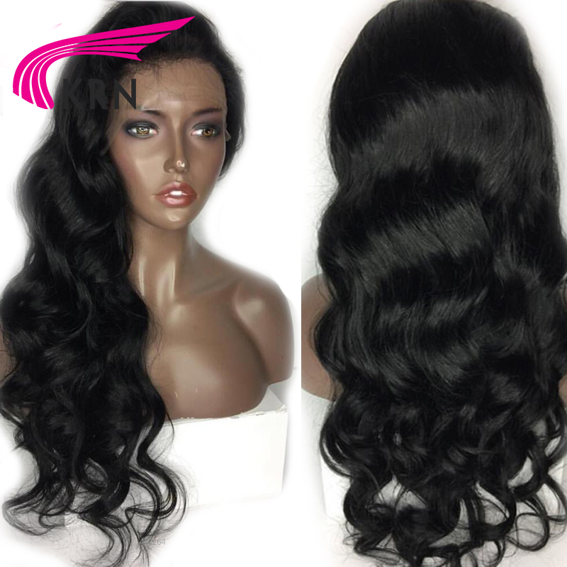 KRN Body Wave Lace Front Human Hair Wigs With Baby Hair 130 Density Remy Hair Pre