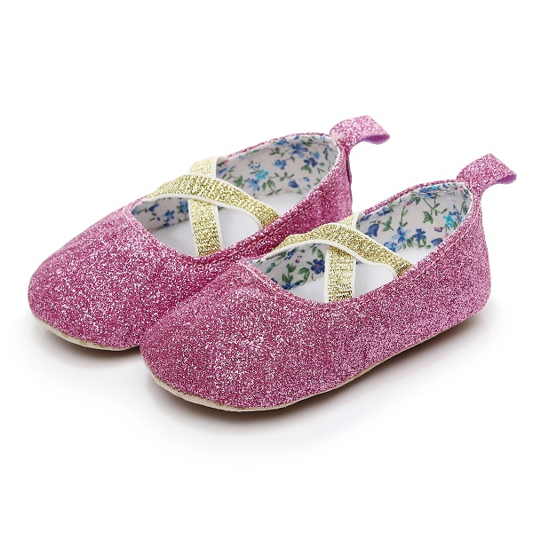 d9e549e16ee0 HONGTEYA new Baby Shoes for Girls 2019 Toddlers Soft Sole Sequin Baby mary  jane Shoes Moccasins bebe Ballet shoes