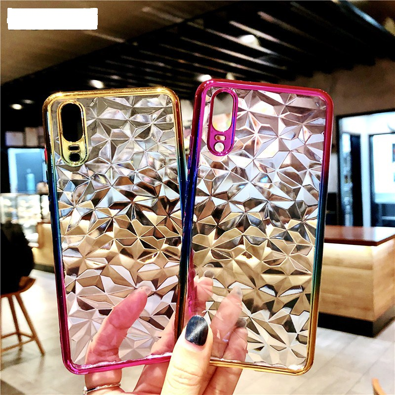 100pcs lot Electroplate Gradient Diamond Soft Case For Iphone Xs max Xr X 7 8 plus