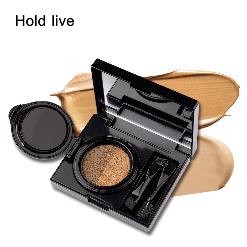 1pc Eyebrow Dye Cream Eyebrows Powder Natural Air Cushion Double Color Eyebrows Seal Waterproof Mascara Eye Makeup Cosmetics Beauty Essentials