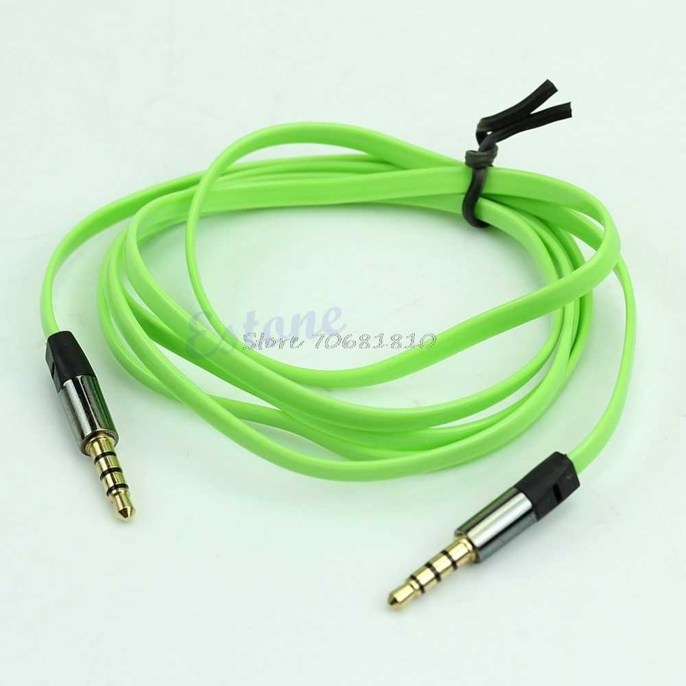 3 5mm 4 pole male to male m m flat noodle record stereo audio aux [ 1000 x 1000 Pixel ]