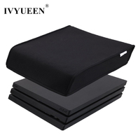IVYUEEN Black For Sony Play Station 4 PS4 Pro Console Soft Dust Proof Neoprene Cover Sleeve ( For Horizontal Place )