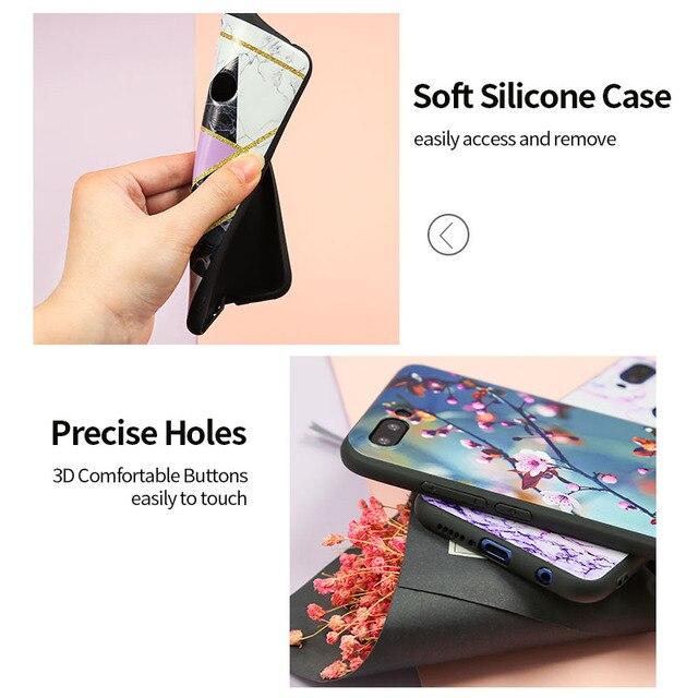 Для Mi A2 задняя крышка для Xiaomi MiA2 Lite чехол силиконовый мягкий черный для Xiaomi Mi A2 A 2 Lite TPU матовый чехол милый чехол с цветком