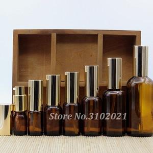 Image 4 - 2/10 Stuks 5/10/15/20/30/50/100 Ml Lege Helder/Amber Glas Essentiële Olie Parfumflesje Met Spuit/Lotion Pomp Glazen Spuitfles