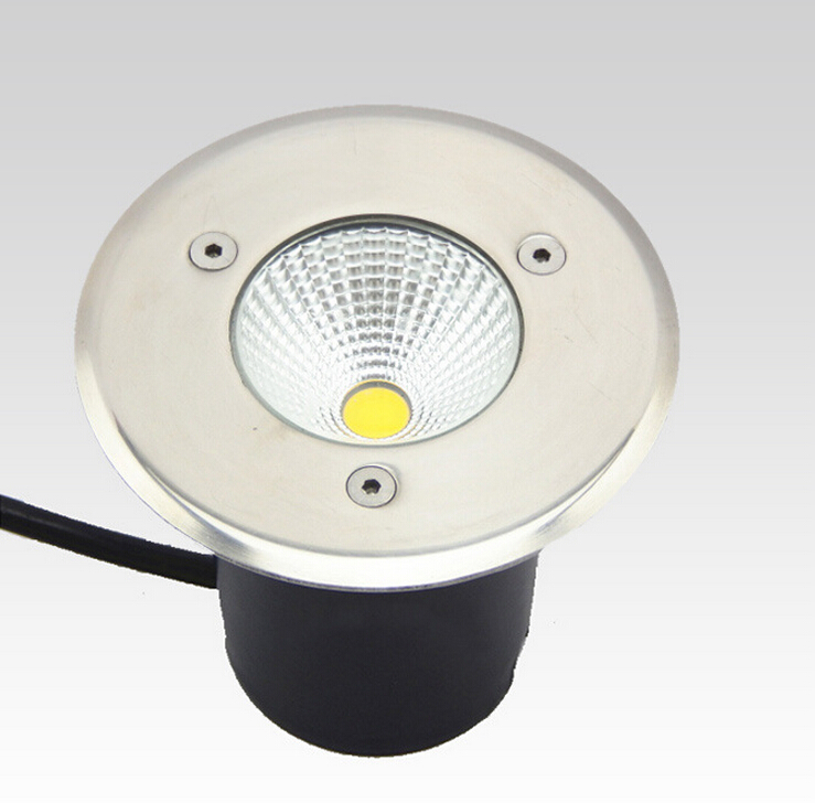 Free shipping high power good quality IP68 10W Warm White white Cold white COB LED underground light Diameter 100mm 90 260V AC in LED Underground Lamps from Lights Lighting