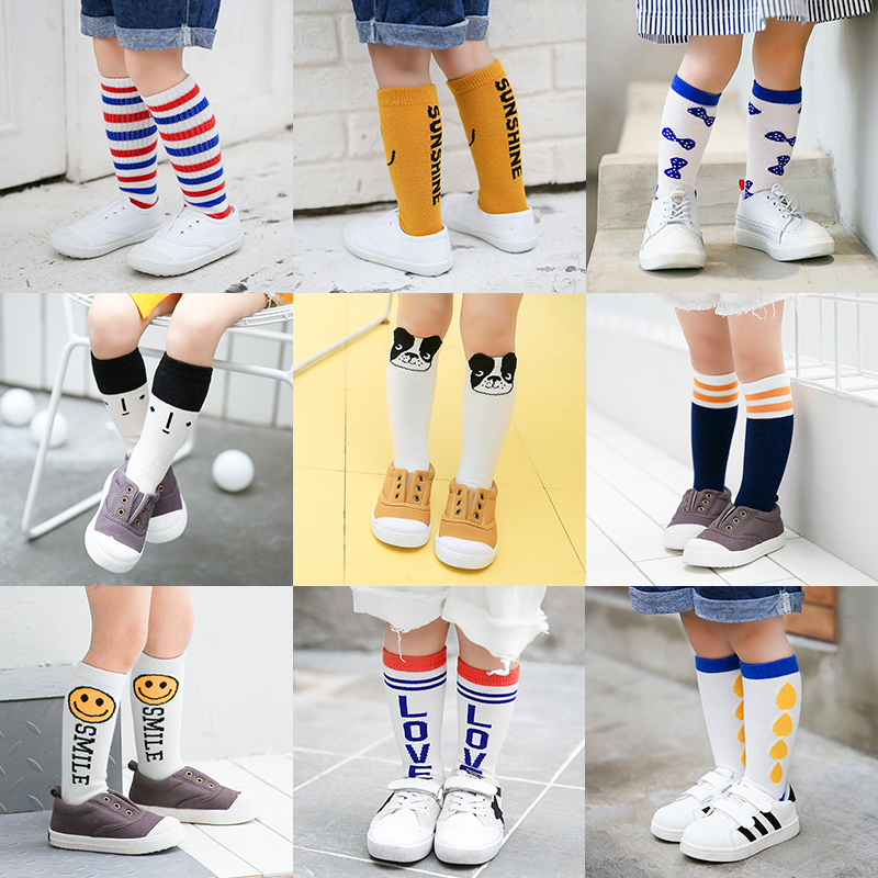 Baby  Knee High Socks For Baby Girl High Knee Infant Kids Long Kids Socks Baby Boy P008