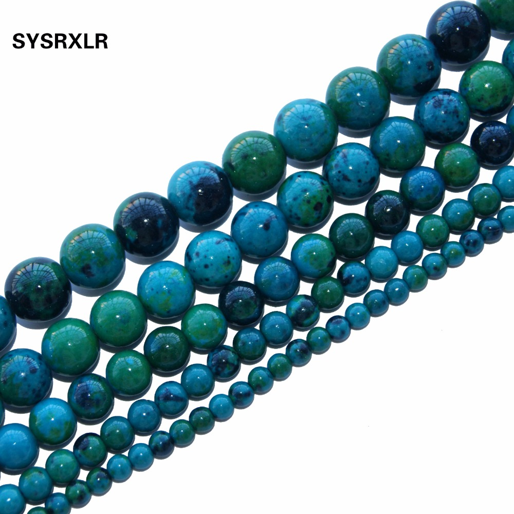 2017 New Lapis Round Shape Natural Stone Beads For Jewelry Making Yourself Necklace Bracelet 4 / 6 / 8 / 10 / 12MM Free Delivery