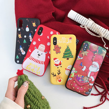 Untuk Iphone 6 6S 7 Plus Case Salju Pohon Natal TPU Soft Cover Di UNTUK iPhone X XR XS Max Case Coque(China)