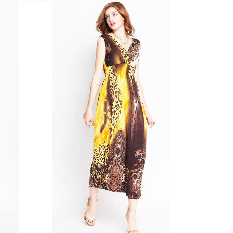 Nuevo verano más las mujeres del tamaño vestidos de gasa impresión ...