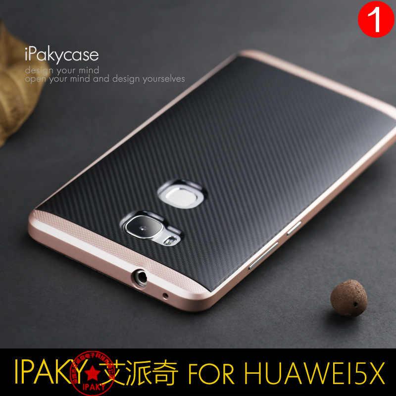 100% Original iPaky ยี่ห้อ Huawei honor 5x กรณีเกราะซิลิโคนปกหลัง PC กรอบจัดส่งฟรี