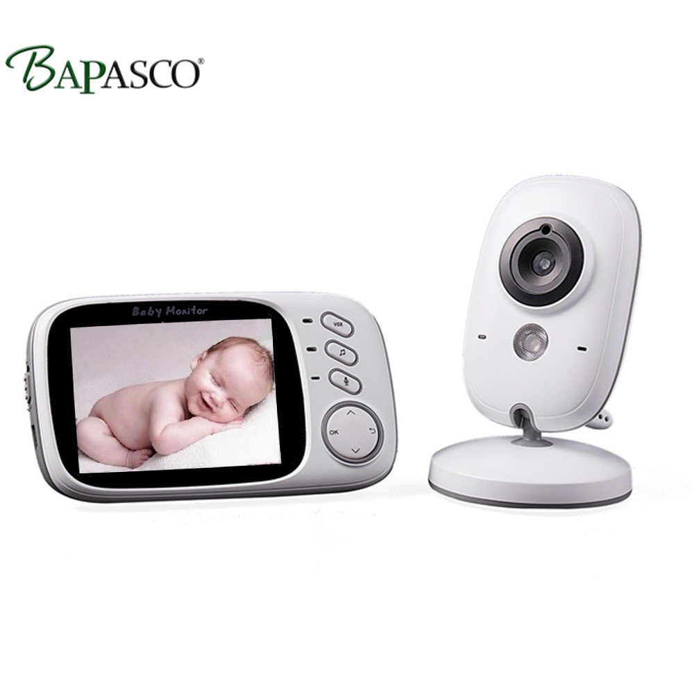 BAPASCO digitale da 3.2 pollici wireless baby monitor a due vie citofono display della temperatura gioco di musica dispositivo di cura del bambinoBAPASCO digitale da 3.2 pollici wireless baby monitor a due vie citofono display della temperatura gioco di musica dispositivo di cura del bambino
