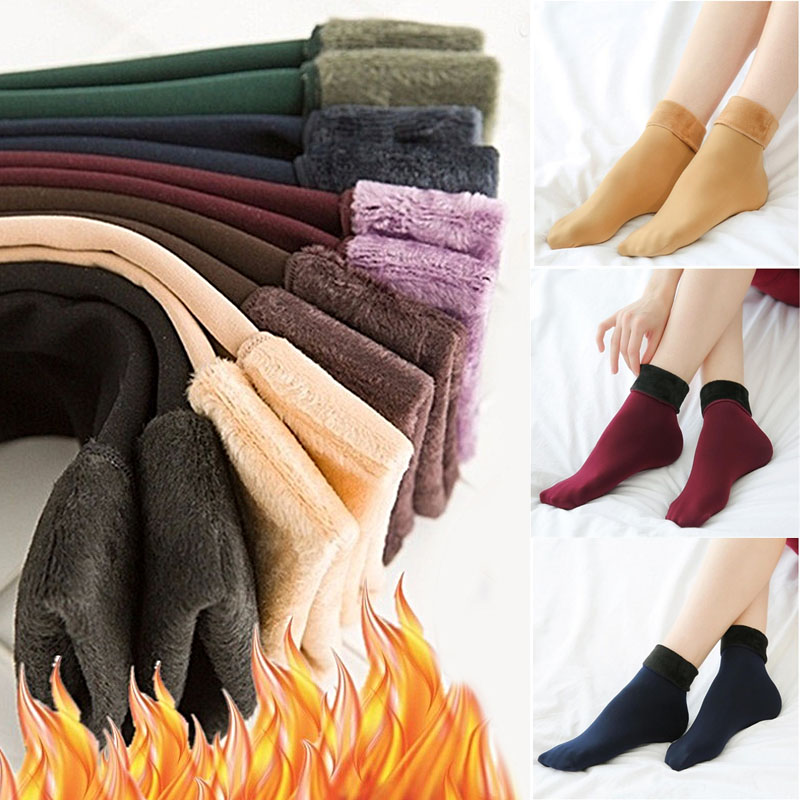 HTB1bixkX5HrK1Rjy0Flq6AsaFXal - Thickening Cashmere Snow Socks Men Women's Autumn And Winter Warm Velvet Solid Casual Thermal Keep Sleeping Socks