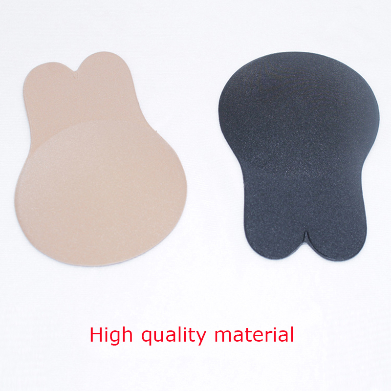 Women Silicone Self Adhesive Sticky Bra Strapless Push Up Seamless Invisible Bra Sexy Rabbit Ears Underwear