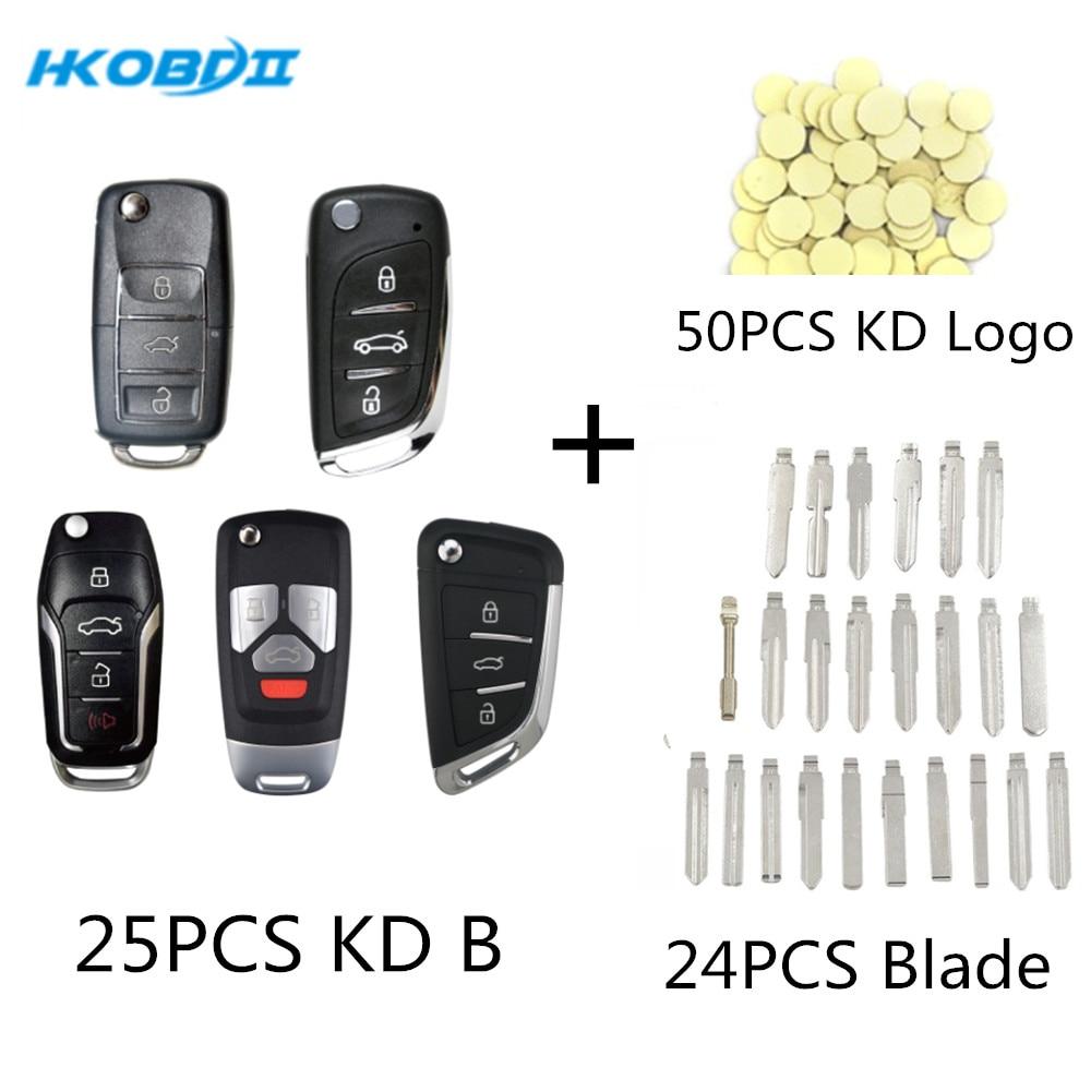 HKOBDII KEYDIY 25PCS B01 B11 B12 3 1 B26 3 1 B29 24pcs KD Blade 50PCS