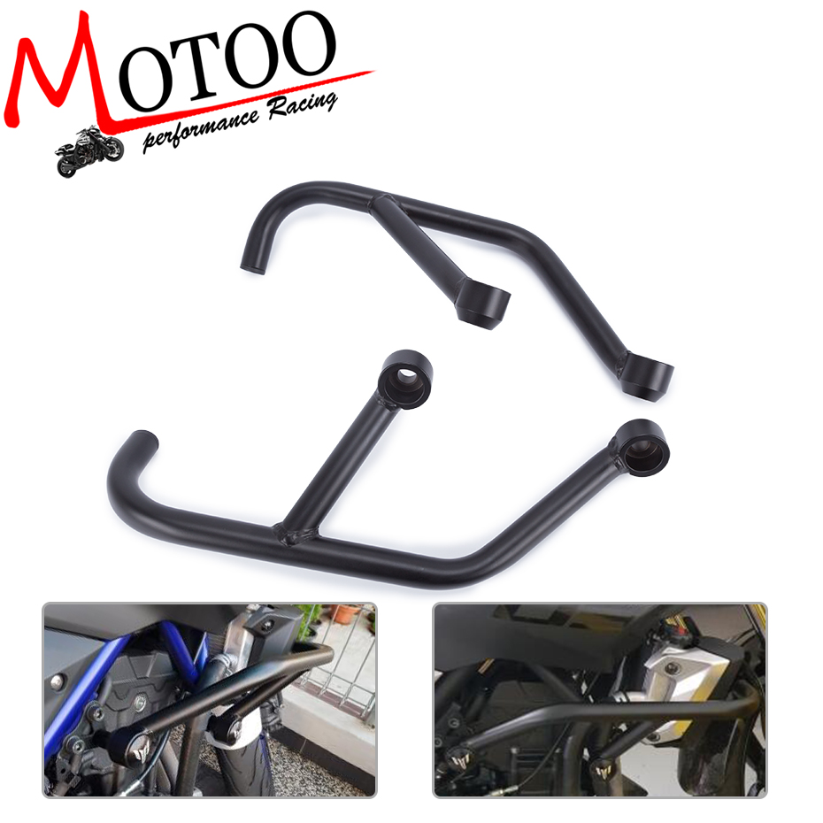 Motoo- 2013 2014 2015 2016 FOR YAMAHA MT-03 MT-25 MT 03 MT 25 FZ 03 Black Engine Guard Crash Bar Protector for yamaha mt 03 2015 2016 mt 25 2015 2016 mobile phone navigation bracket page 1