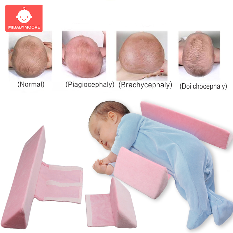 newborn baby shaping styling pillow anti rollover side sleeping pillow triangle infant baby positioning pillow for 0 6 months