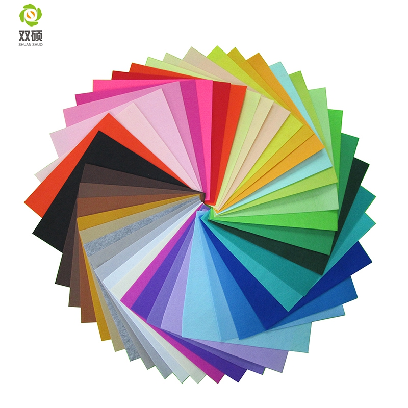 Shuanshuo High Quality Mix Colors 100% Polyester Nonwoven Felt Fabric For DIY Sewing Carfts40PCS/lot 30CM*30CM N-40
