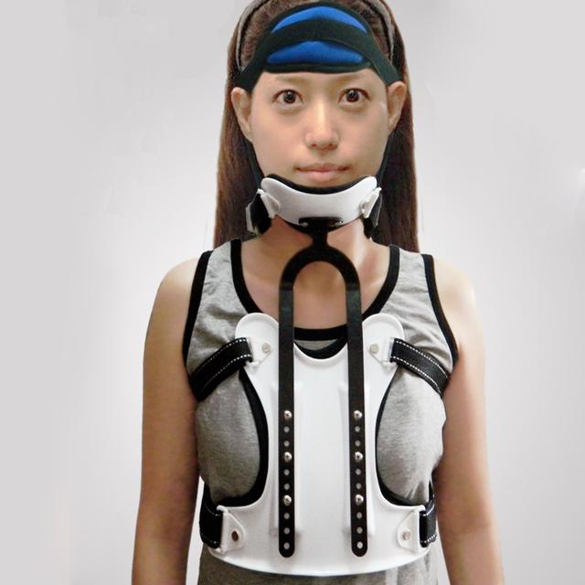 Médica Tratamento Espondilose Cervical Trator Vértebra Traction Neck Brace Suporte Peito Cabeça Fixa Dispositivo de Correção 1 Pcs