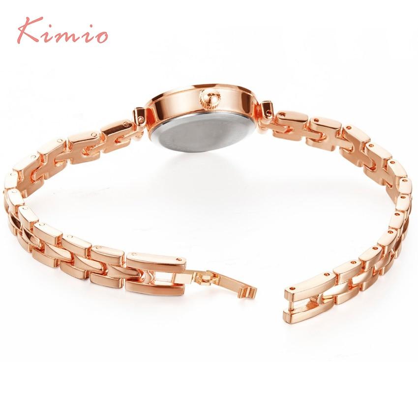 KIMIO Red Crystal Watch Kvinnor Simple Rose Guld Armbandsur Kvinnor - Damklockor - Foto 6