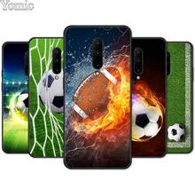 Football Soccer Ball burning fire Soft Cover Shell for Oneplus 7 7 Pro 6 6T 5T Silicone Phone Case for Oneplus 7 7Pro Black Case