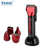 KEMEI 5 In 1 Waterproof Electric Cutting Machine Shaving Shaver Technology Hair Clipper Professional Nose Hair