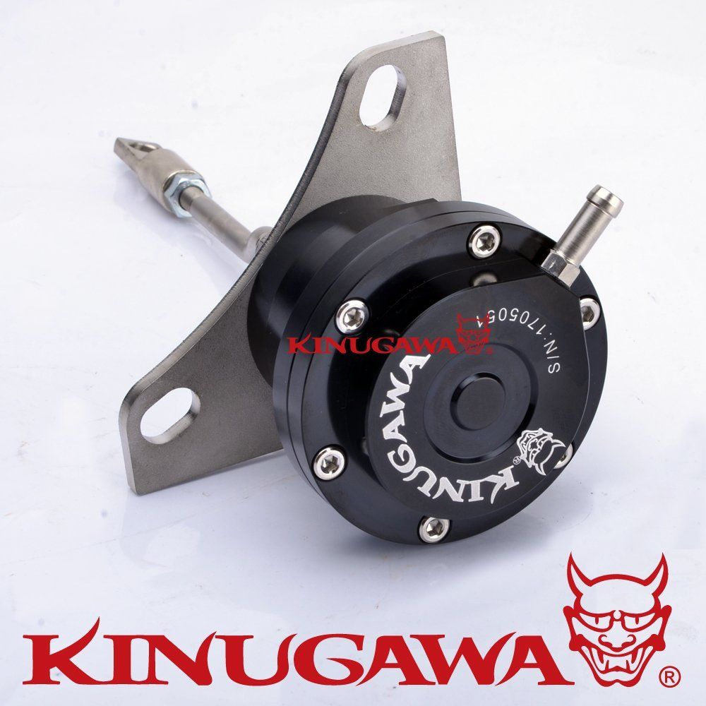 Kinugawa Adjustable Turbo Wastegate Actuator for Mitsubishi 4M41T Pajero III 3.2L DI-D 49135-03411 TF035 1.0 bar / 14.7 Psi