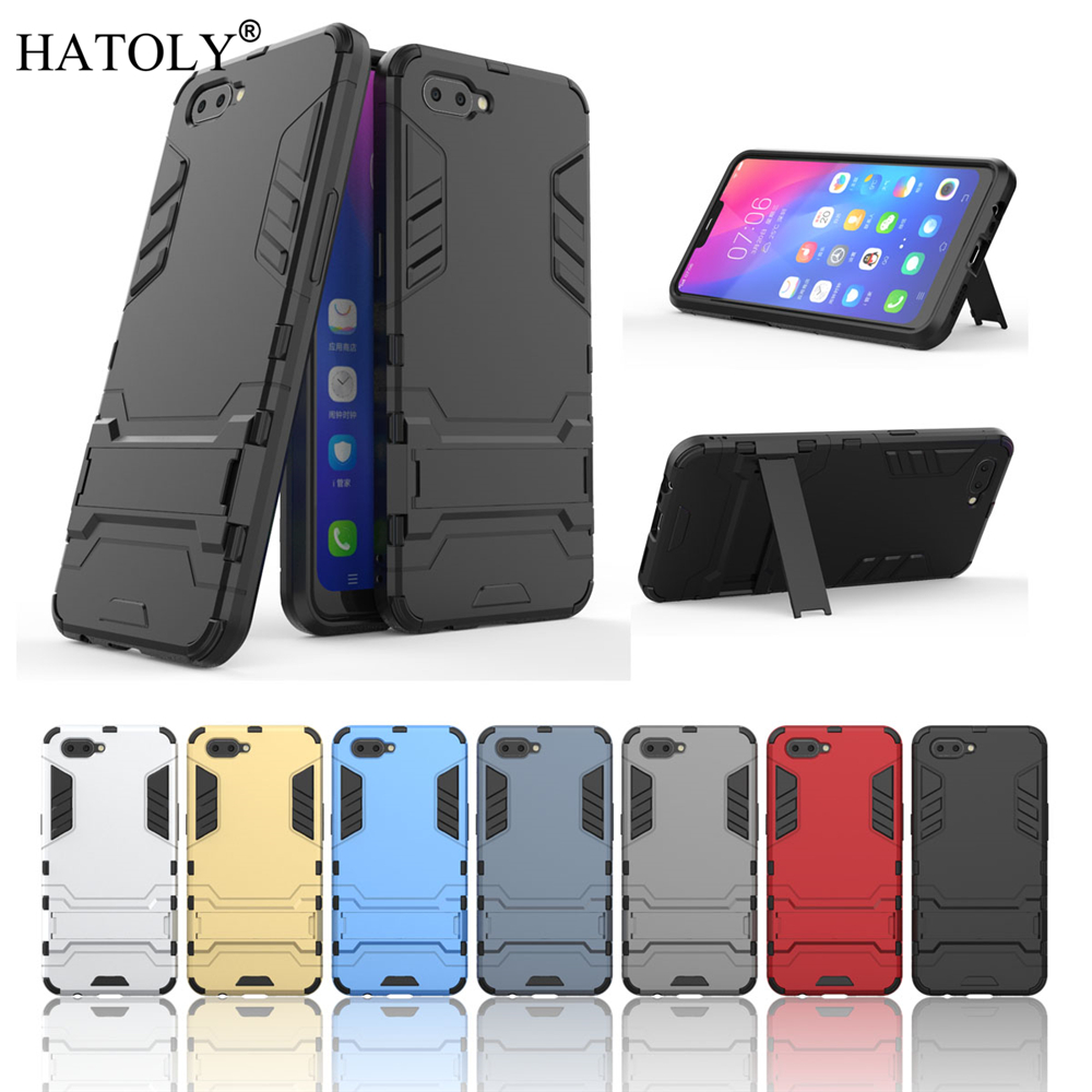 buy popular ebe22 c26dc US $2.68 37% OFF|Cover OPPO A3S Case Rubber Robot Armor Shell Bumper HATOLY  Protective Hard Back Phone Case for OPPO A3S Cover for OPPO A3S-in Fitted  ...