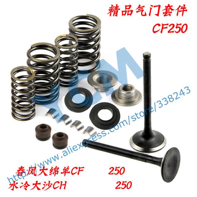 Conjunto de La válvula Culata CF250 CH250 Partes CFMOTO CF Válvula set Piezas Del Motor Al Por Mayor