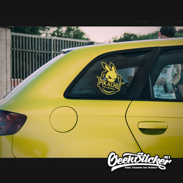 Image 5 - Waterproof Reflective Cool Pikachu Car Styling car Sticker Exterior Decals for Mazda rx7 suzuki vw Beetle infiniti q50 bmw e46-in Car Stickers from Automobiles & Motorcycles