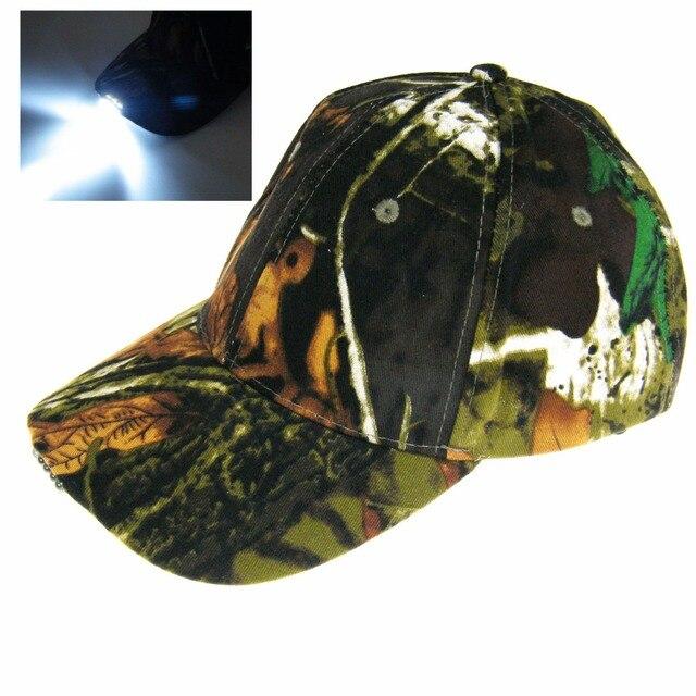 8724424ed9395 5 Led Lights Fishing Caps Hats Night Light Fishing Hunting Hat Vintage  Camouflage Sun Protection Hunting Hat hiking Fishing cap