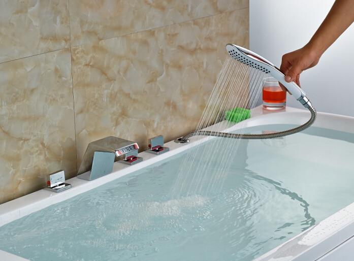 Rubinetto Vasca Da Bagno : ⑥new luxury cascata cromata becco deck mounted vasca da bagno